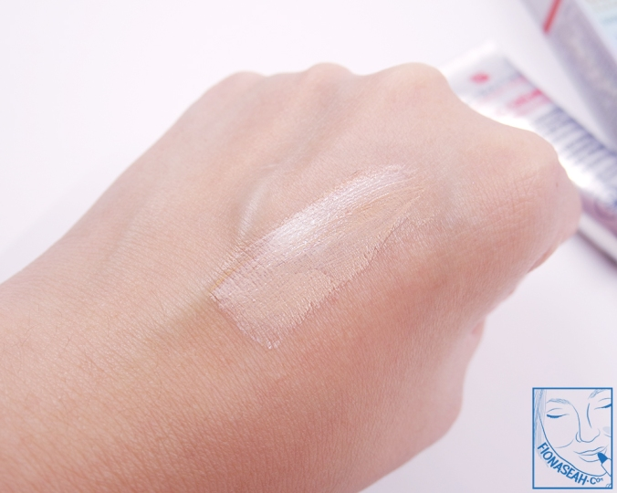 Erborian CC Crème - blended out (see how it changes colour?)