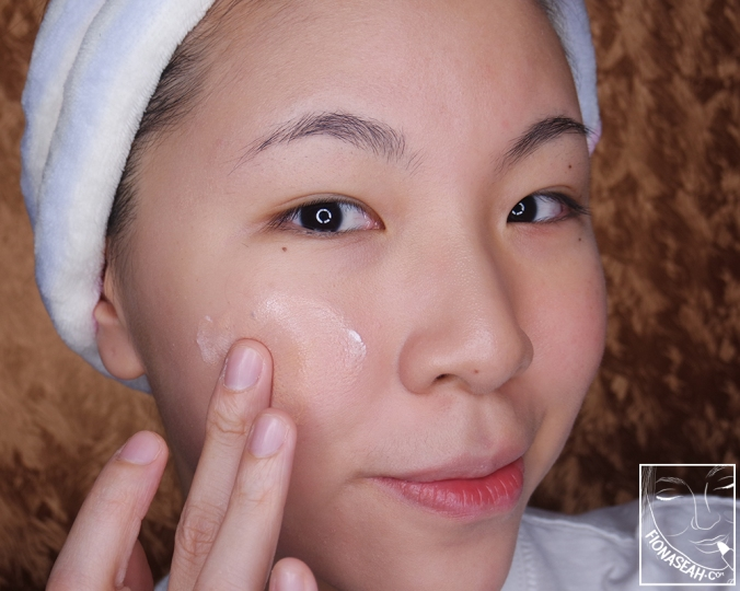 Erborian CC Crème - on the face, blended out