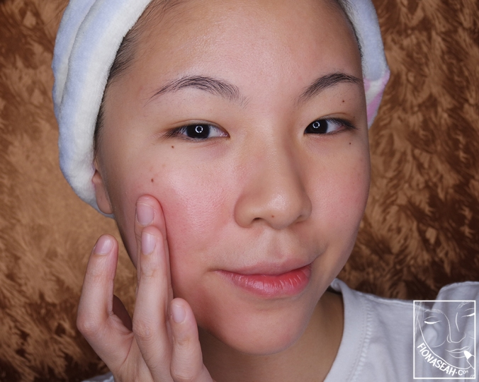 Erborian Pink Perfect Crème - on the face, blended out