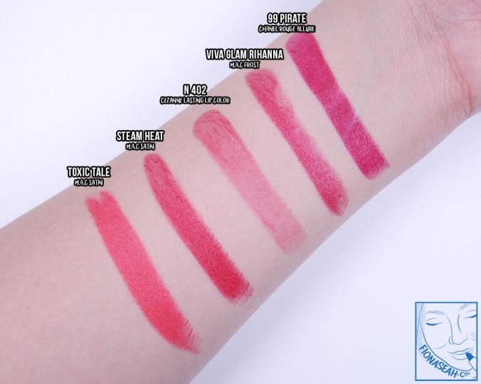 CEZANNE Lasting Lip Color N 402 - opacity comparison