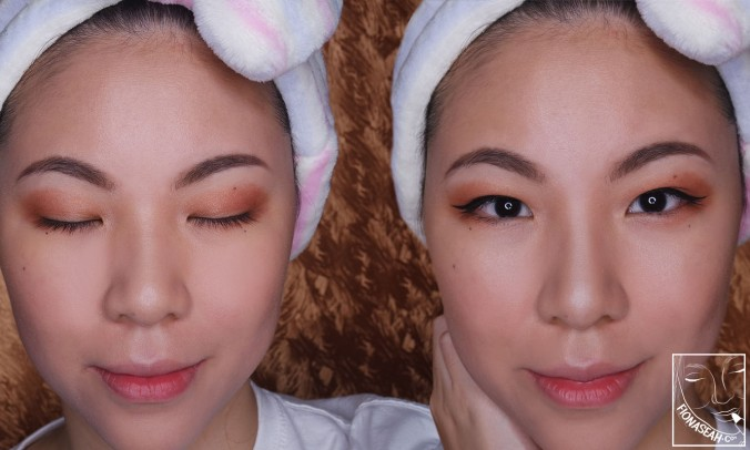 CEZANNE Nose Shadow Highlighter - BEFORE (left) and AFTER (right)