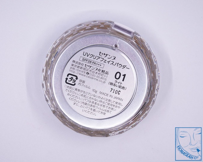 CEZANNE UV Clear Face Powder 01