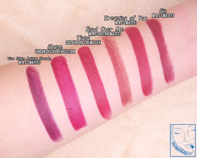 ColourPop Crème Lux Lipstick in Belle & Tiana (swatch comparison)