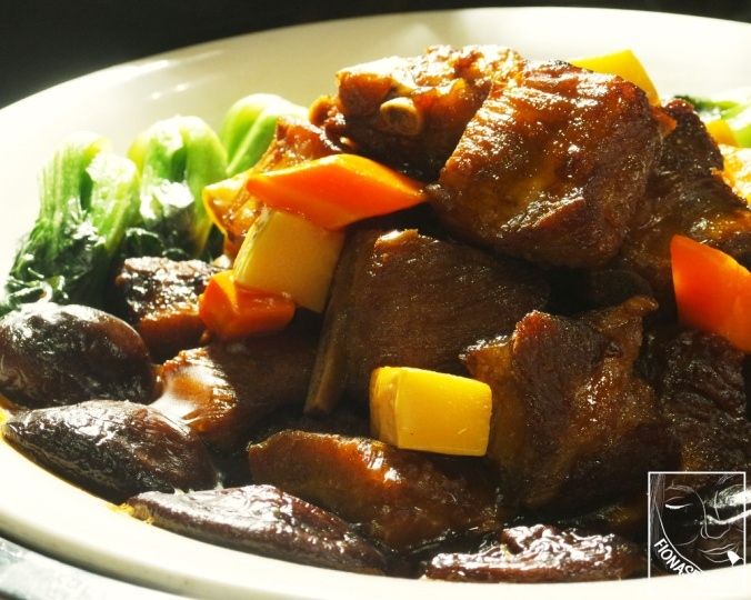 Braised Pork Rib with Chinese Mushrooms & Bamboo Shoot
