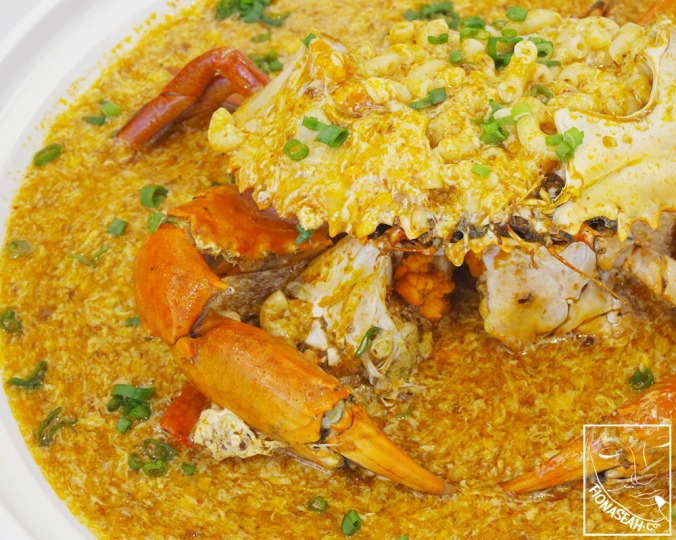 Chilli Sri Lankan Crab with Macaroni (Medium: S$10++/100g, Large: S$13.80++/100g, Dungeness Crab: S$128++/ea)
