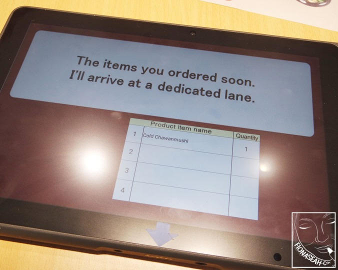 The iPad also alerted us when our orders arrived