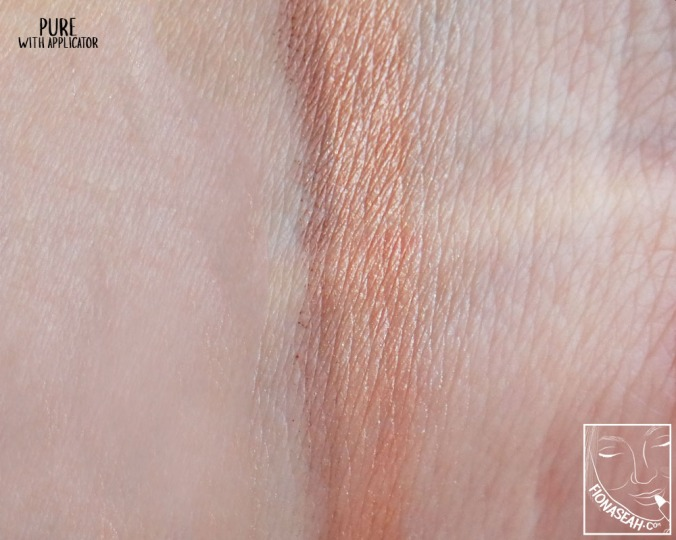 """""""Pure"""" - swatched with the applicator"""