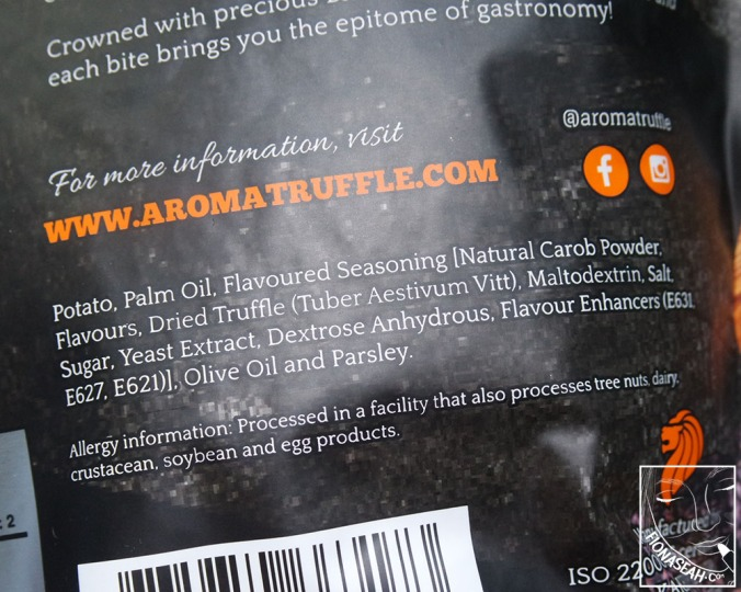 Ingredient list for the original flavour