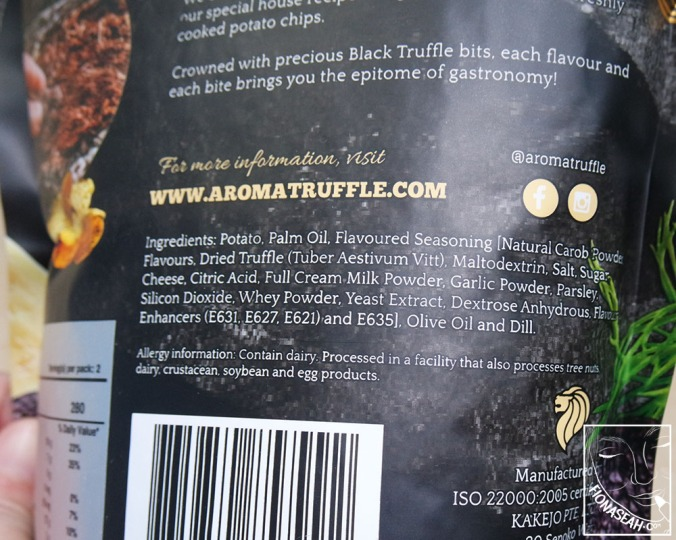 Ingredient list for the Parmesan cheese flavour