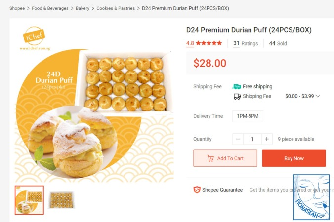 My first durian food purchase during Circuit Breaker [click here for shop]