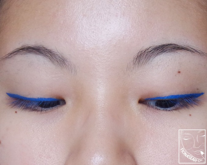 Sephora x Stabilo Felt Liner in Summer Holiday on primed lids (and some of it somehow transferred onto my lashes)