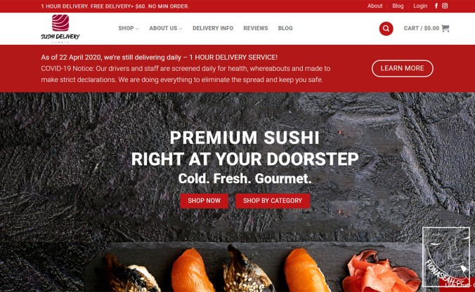 Sushi Delivery website