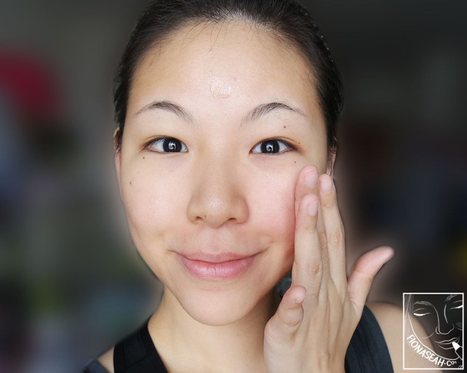 Then, spread it out! Be sure to spread it outwards, like how you should when you apply other products on your face, to prevent premature sagging and wrinkles ;)