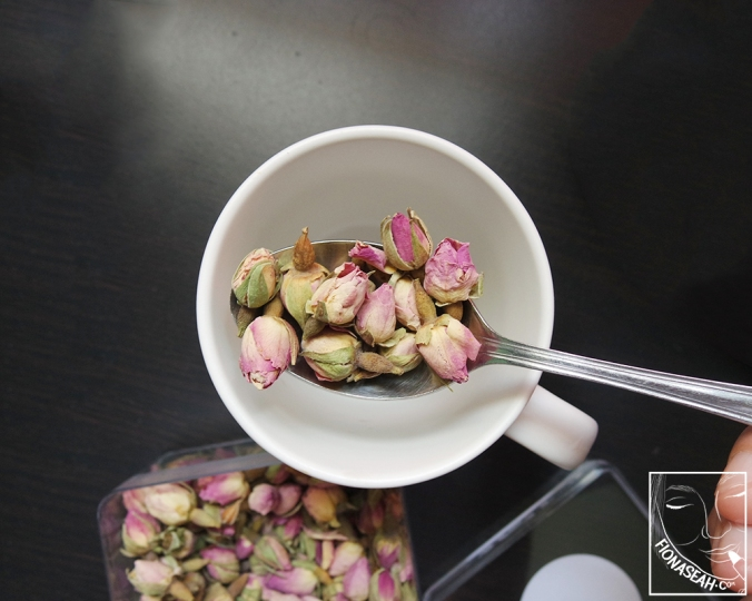 This is all you need to brew a cup of Rose Tea!