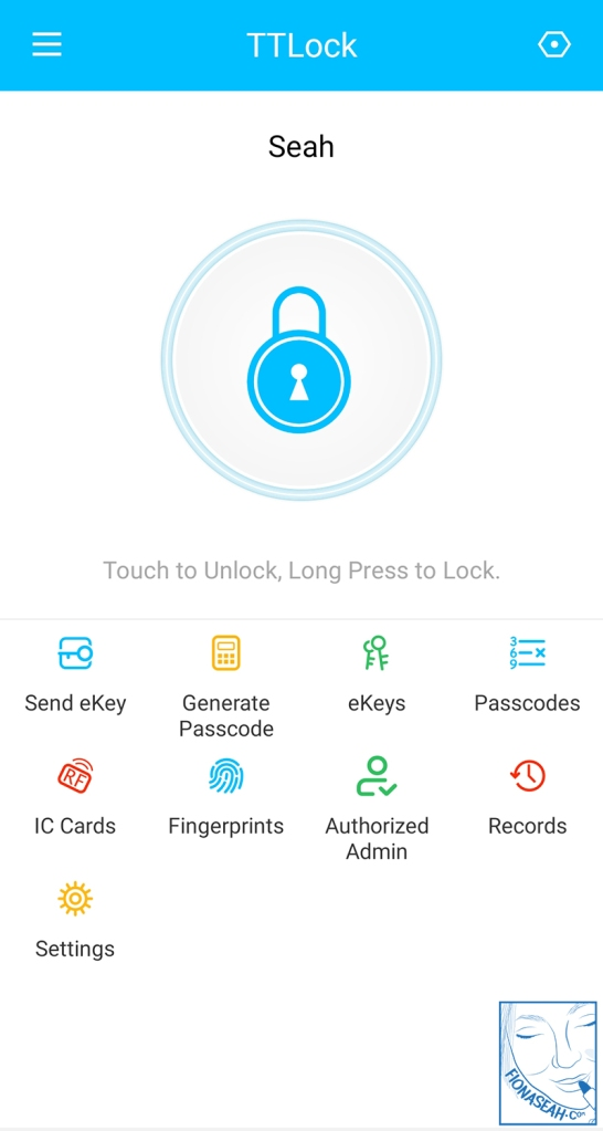 The TTLock app is where you can configure your lock settings